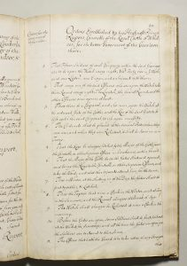 Order by the Constable of Windsor Castle for improvements to defences of the Castle_1689_p1