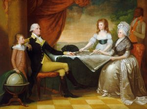 Portrait of the Washington Family by Edward Savage (1761-1817) (Sourced: Wikimedia, Public Domain)