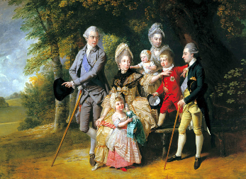 Painting of George III's family