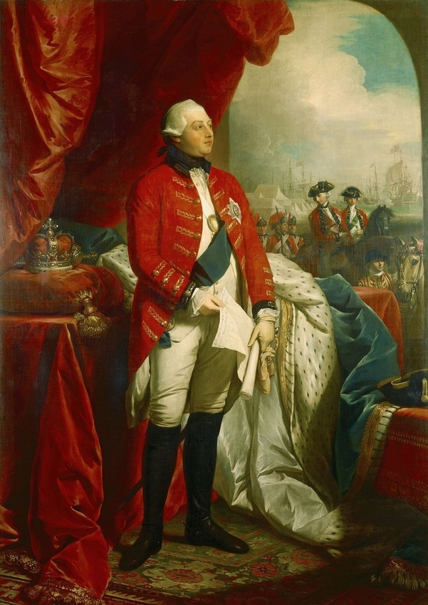 Portrait of George III standing in uniform