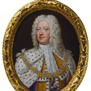 Round framed portrait of George II