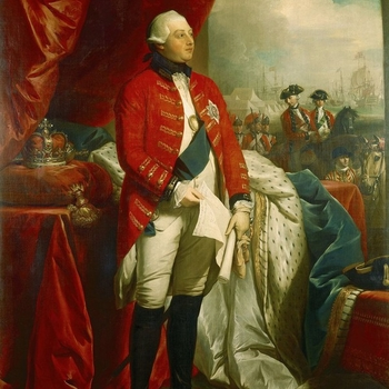 Portrait of George III standing in uniform