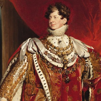 Portrait of George IV in red regalia