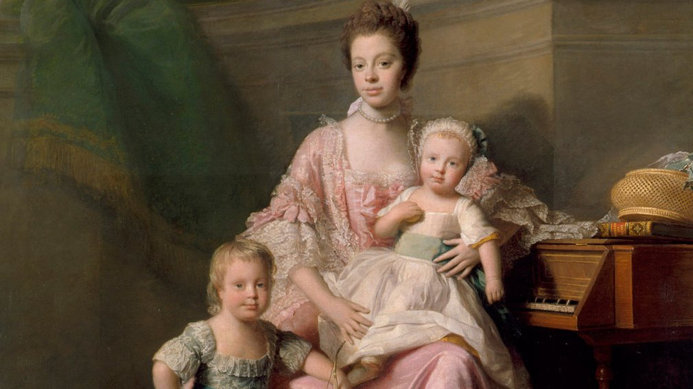 Queen Charlotte with her two Eldest Sons as small children