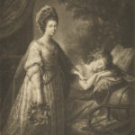 Sepia portrait of Queen Charlotte