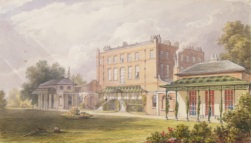 Watercolour of Bushy Park