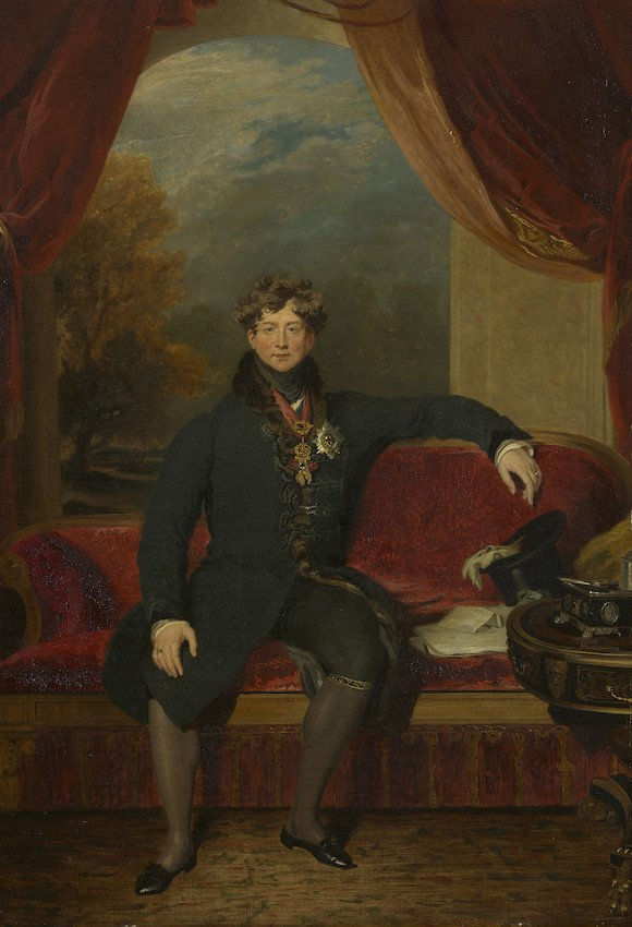 Copy of Sir Thomas Lawrence's portrait of George IV c.1822-1830