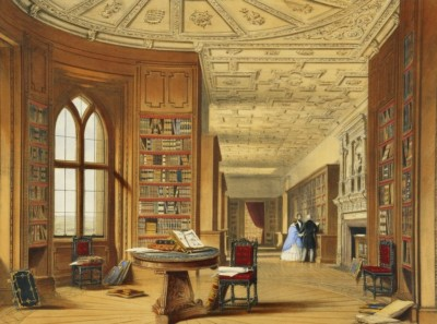 The Library at Windsor, by Joseph Nash