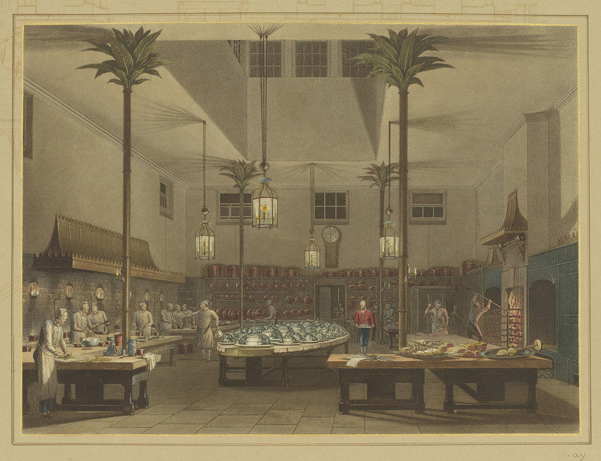 Kitchen at Brighton Pavilion
