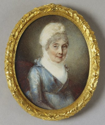 Portrait of Princess Elizabeth in round gold frame