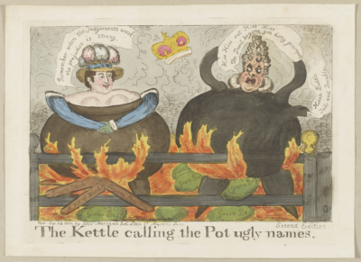 "Image of ""The Kettle calling the Pot ugly names."""