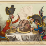James Gillray, The Plumb-pudding in Danger- or- States Epicure taking un Petit Souper