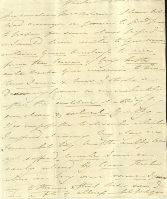 Handwritten letter from Princess Mary to Mrs Adams