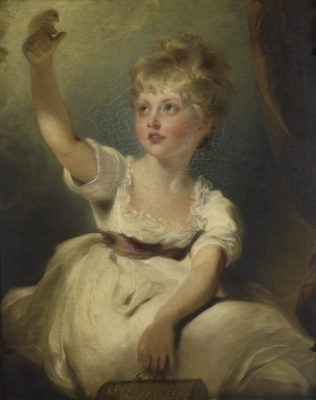 Portrait of Princess Charlotte of Wales as a young child in white dress